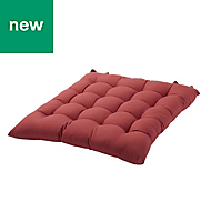 Hiva Red Plain Seat pad