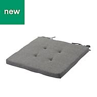 Chambray Grey Plain Seat pad