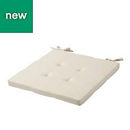 Chambray Beige Plain Seat pad