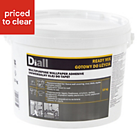 Diall Wall paper glue Ready to use Wallpaper Adhesive 10 kg