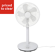 "Blyss White 16"" 28W Pedestal Fan"