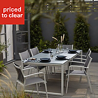Riccia Metal 4 seater Dining Table