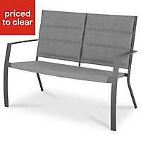 Derry Metal Anthracite Bench