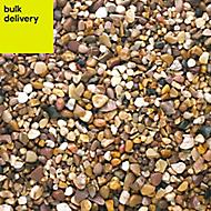 B&Q Naturally rounded Brown Decorative stones, Bulk Bag