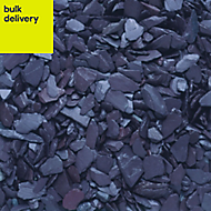 Blooma Blue 10-30mm Slate Decorative chippings, Bulk 790kg Bag