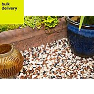 Blooma Alpine mix Multicolour Decorative stones, Bulk Bag