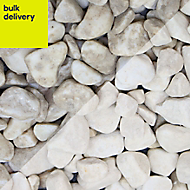 Blooma White Marble Pebbles, 22.5kg Bag