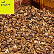 Blooma Brown Stone Pebbles, 22.5kg Bag
