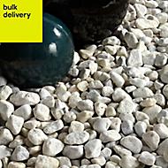 B&Q White Stone Pebbles, 790kg Bag
