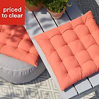 Rural Terracotta Plain Seat pad