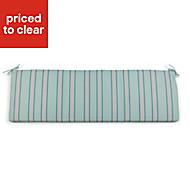 Isla Multicolour Striped Bench cushion