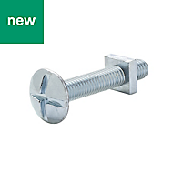 M5 Roofing bolt & square nut (L) 30mm, Pack of 10