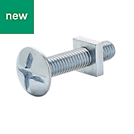M6 Roofing bolt & square nut (L) 30mm, Pack of 10