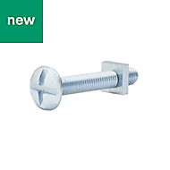 M6 Roofing bolt & square nut (L) 40mm, Pack of 10