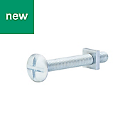 M6 Roofing bolt & square nut (L) 50mm, Pack of 10