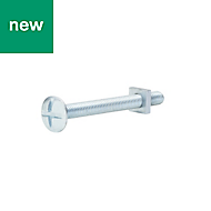M6 Roofing bolt & square nut (L) 60mm, Pack of 10