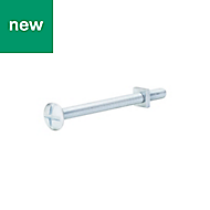 M6 Roofing bolt & square nut (L) 80mm, Pack of 10