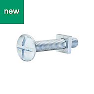 M8 Roofing bolt & square nut (L) 50mm, Pack of 10