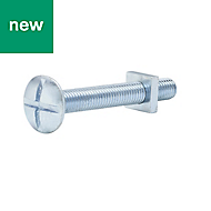 M8 Roofing bolt & square nut (L) 60mm, Pack of 10
