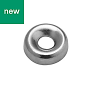 Diall M3 Carbon steel Screw cup washer, Pack of 25