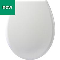 Cooke & Lewis Tivellea White Soft close Toilet seat
