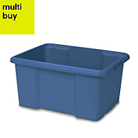 Fitty Blue 26L Plastic Storage box