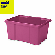 Fitty Pink 26L Plastic Storage box
