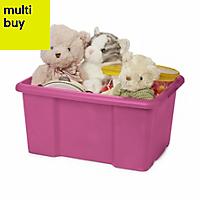 Fitty Pink 26L Plastic Storage box