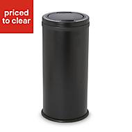 Cooke & Lewis Allium Black Mild steel Round Touch bin, 30L