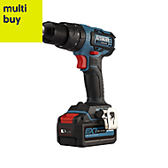 Erbauer EXT Cordless 18V 4Ah Lithium-ion Brushless Combi drill 1 battery ECD18-Li-2