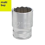 """Magnusson ½"""" Standard Socket 21mm"""