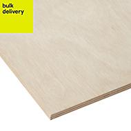 Smooth Hardwood Plywood Board (L)2.44m (W)1.22m (T)12mm