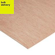 Smooth Hardwood Plywood Board (L)1.83m (W)0.61m (T)3.6mm