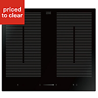 Cooke & Lewis CLFLIND60 4 Zone Black Glass Induction Hob, (W)590mm