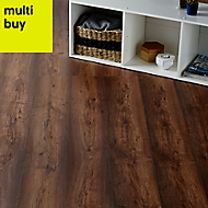 Colours Tamworth Grey Oak effect Laminate flooring, Sample