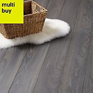 Colours Horsham Grey Oak effect Laminate flooring, Sample