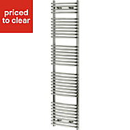 Blyss Arundel 532W Electric Chrome Towel warmer (H)1674mm (W)450mm