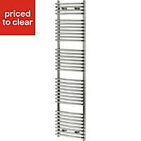 Blyss Arundel 532W Chrome Towel warmer (H)1674mm (W)450mm