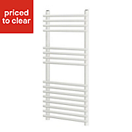 Blyss Bosham 404W Electric White Towel warmer (H)900mm (W)450mm