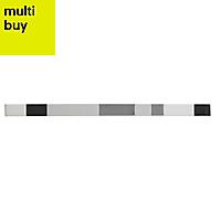 Salerna Black & white Gloss Ceramic Wall tile, (L)50mm (W)400mm