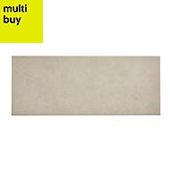 Konkrete White Matt Ceramic Wall tile, Pack of 14, (L)500mm (W)200mm