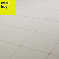 Konkrete White Matt Porcelain Floor tile, Pack of 34, (L)200mm (W)200mm