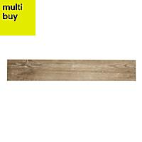 Cotage wood Light brown Matt Wood effect Porcelain Floor tile, Pack of 4, (L)1200mm (W)200mm