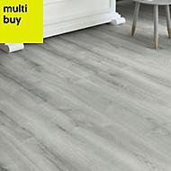 Colours Bathgate Grey Oak effect Laminate flooring, 2.14m² Pack