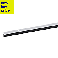 Diall White Aluminium & rubber Draught excluder, (L)1.05m
