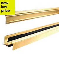 Diall Gold effect PVC Threshold & rain deflector, (L)0.91m