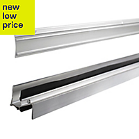Diall Silver effect PVC Threshold & rain deflector, (L)0.91m