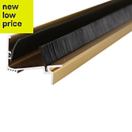 Diall Gold effect PVC Two part threshold door seal, (L)1.83m