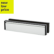 Diall Silver effect Letterbox with sleeve (H)67mm (W)305mm