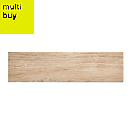 Guigliano Beige Matt Ceramic Floor tile, (L)600mm (W)154mm, Sample